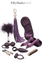 Coffret pleasure Overload - Fifty Shades Freed : Un coffret cadeau d'accessoires coquins et Fetish SM pour vivre 10 jours de plaisir.