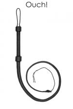 Fouet cuir Bullwhip - Ouch! : Fouet haute qualité en cuir véritable, longueur totale 190 cm, par Ouch! collection Pain.