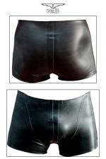 Rubber Shorts : Fin de série : uniquement disponible en taille XS. Short court en latex véritable aux découpes anatomiques avantageuses.