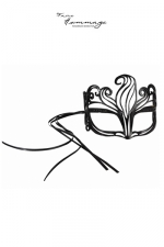 Masque Shine - Faire Hommage : Des cristaux Svarowki ornent ce masque ultra féminin aux volutes délicatement sensuelles.