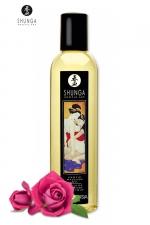 Huile de massage érotique - Rose : Huile de massage érotique Aprodisia à la rose pour éveiller les sens et la réceptivité amoureuse, par Shunga.