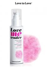 Huile de massage barbe a papa 100ml : Huile de massage comestible goût barbe a papa fabriquée en France par Love to Love.