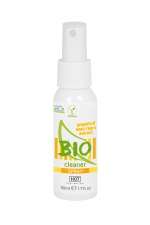 Spray nettoyant sextoys Bio 50ml -  HOT : Spray cleaner 100% biologique haute qualité aux extraits de pamplemousse pour nettoyer tous vos sextoys.